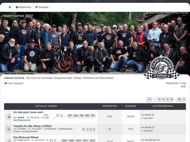 Screenshot von http://www.caferacer-forum.de