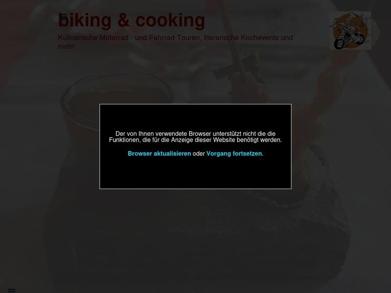 Screenshot von http://www.biking-cooking.de/